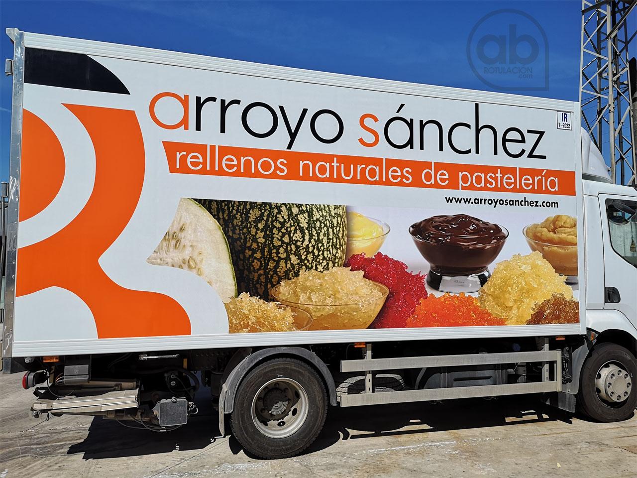 Rotulación Camión Pastelería Arroyo Sánchez